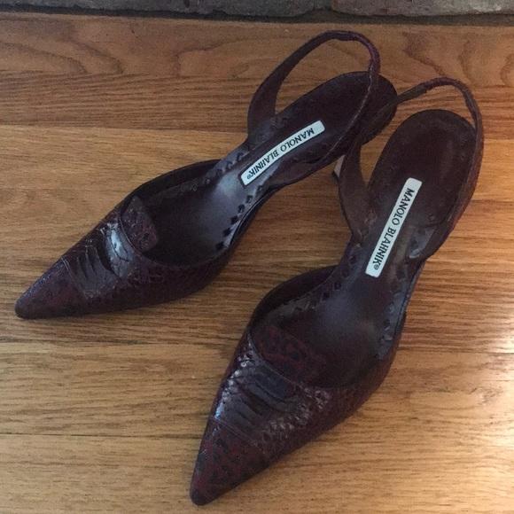 Manolo Blahnik Shoes - Manolo Blahnik slingback heals